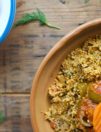 couscous végétarien aneth cuisine tunisienne besbes farfoucha