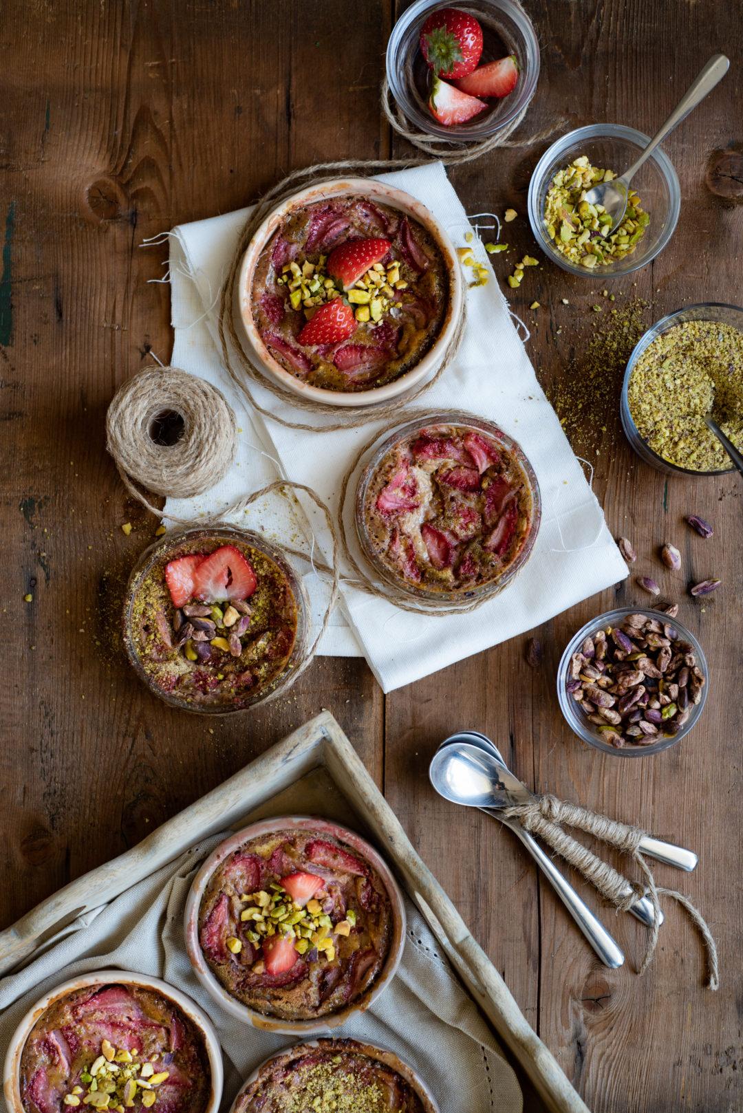 clafoutis fraises pistaches