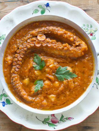 Tbikha ragout poulpes potirons pois chiches cuisine tunisienne